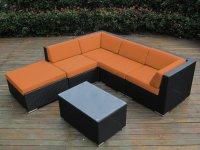 orange wicker patio furniture | Roselawnlutheran