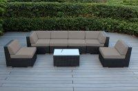 Genuine 16-Piece Ohana Wicker Patio Furniture Set (Outdoor ...