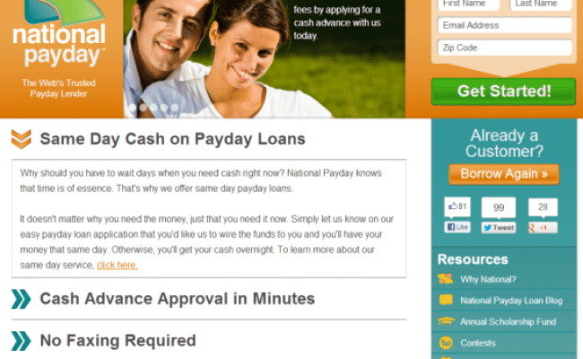 National Payday Review Best Payday Loans