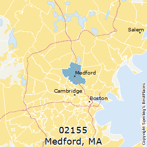 Best Places to Live in Medford zip 02155 Massachusetts