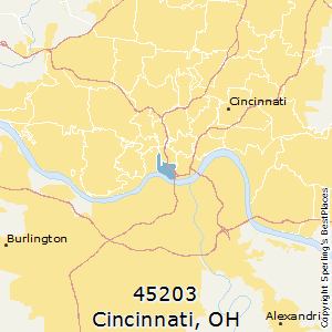 Best Places to Live in Cincinnati zip 45203 Ohio