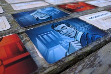 Codenames close up blue