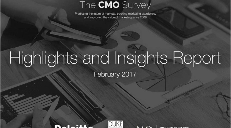 It's Not Too Late To Get Your Copy Of The 2017 CMO Survey