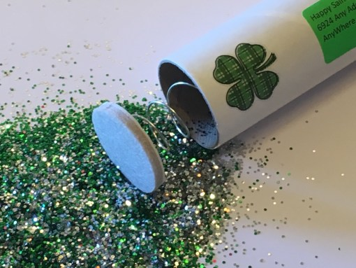 Saint-Patrick's Day Spring-Loaded Glitter Bomb Exploded