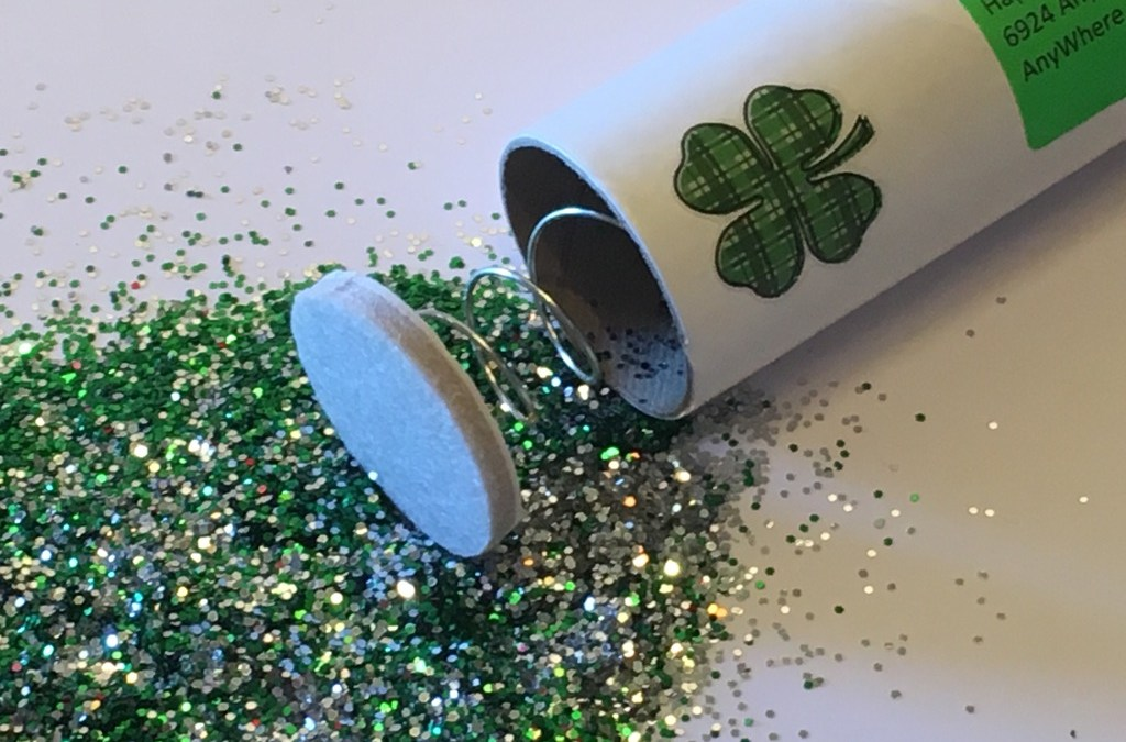 Saint Patrick's Day Spring Loaded Glitter Bomb Gag Gift