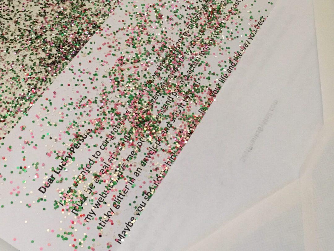 glitter envelope mail prank