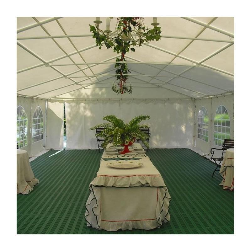 Piastrella forata in plastica ad incastro per esterno e giardino 40x40cm verde