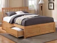 Flintshire Furniture Pentre Oak Finish 2 Drawer Bed Frame ...