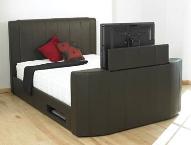 Sleep Secrets Toronto Brown Leather TV Bed Frame Buy
