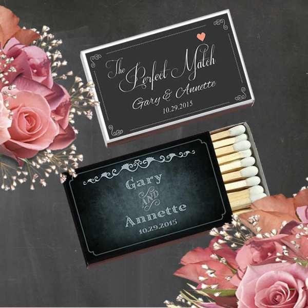 Personalized Wedding Matches Cheap Custom