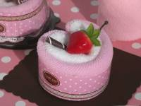 Towel Baby Shower Favors Strawberry Heart Cupcake - FREE ...