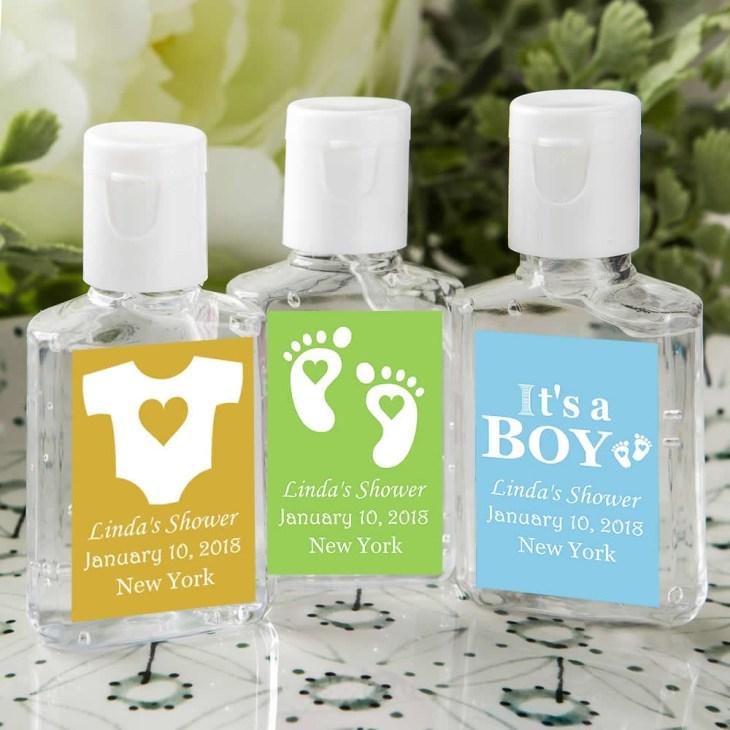 hand sanitizer baby shower favors