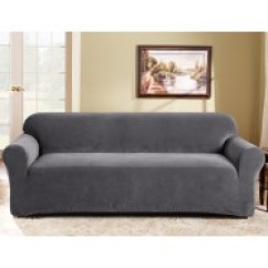 Sure Fit Logan Sofa Slipcover Leather Protector For Dogs Surefit Best Price Linen Slate 3 Seater Couch Cover By