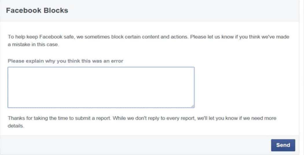 Reason of Facebook will blocking