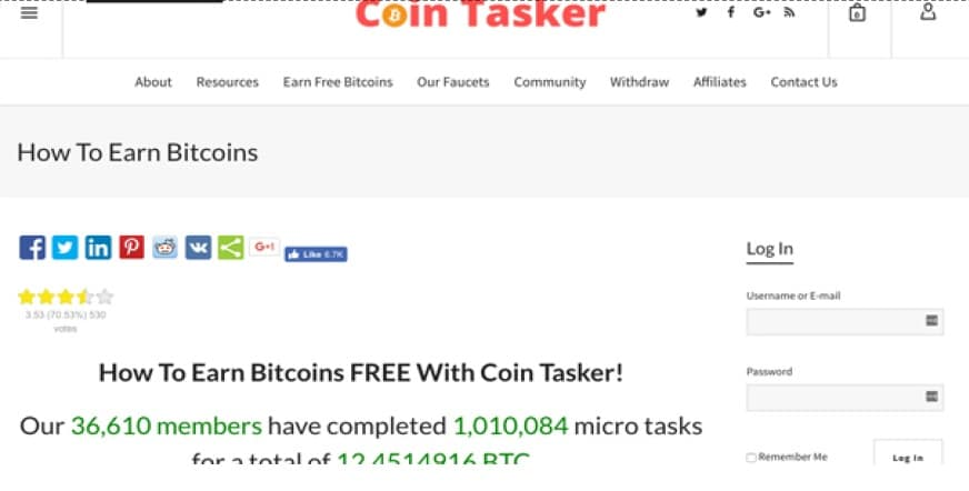 Way of earn bitcoin by Free Coin Tasker