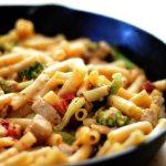chicken broccoli pasta skillet w/ parmesan