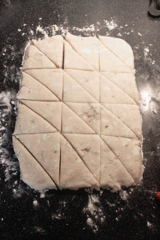 Cut Vanilla Bean Scones Slab