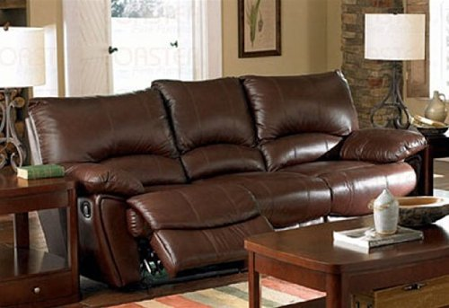 sofa southern motion jean nouvel recliner couch in brown leather match review | best ...