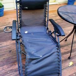 Patio Chair Repair Reclining Adirondack Chairs Tips On Repairing A Broken Zero Gravity Best Recliners