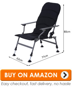 fishing chair uk bows for covers lightweight reviews best top 10 chairs this is a somewhat bigger than some of the others and has an extended back as result it very comfortable with excellent padded seat