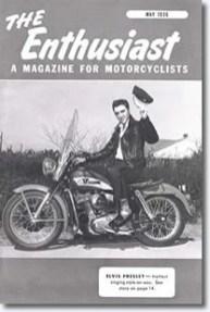 Elvis na Capa de uma Revista de Motos