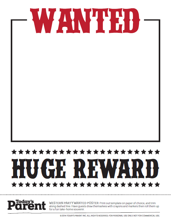 Wanted Poster Templates - 20 Free Templates using MS Word and in PDF