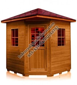 Click to open expanded view 3 - 4 PERSON CORNER SIERRA CANADIAN CEDAR OUTDOOR INFRARED SAUNA - 7 YEAR WARRANTY