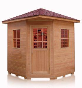 4 Person Outdoor Sauna Hemlock Wood