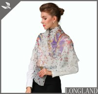 Elegant digital printed chiffon scarves for women in China ...