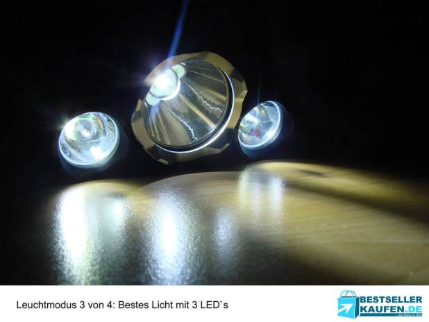 Stirnlampe mit 3 LED