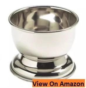 SimplyBeautiful Deluxe Chrome Shaving Bowl for Shaving Soap