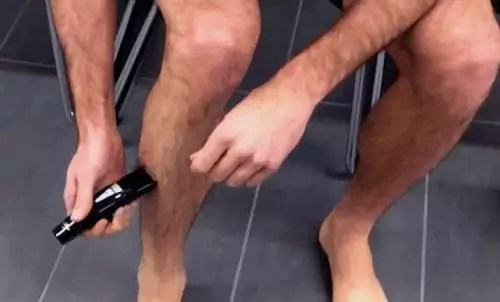 shave your legs with an electric razor