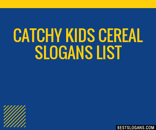 30 catchy kids cereal