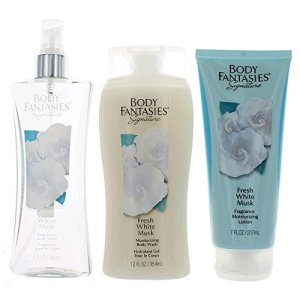 Body Fantasies Fresh White Musk 3 Piece Gift Set for Women