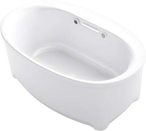 Kohler K-5702-GHW-0 Underscore Oval Bathtub, White