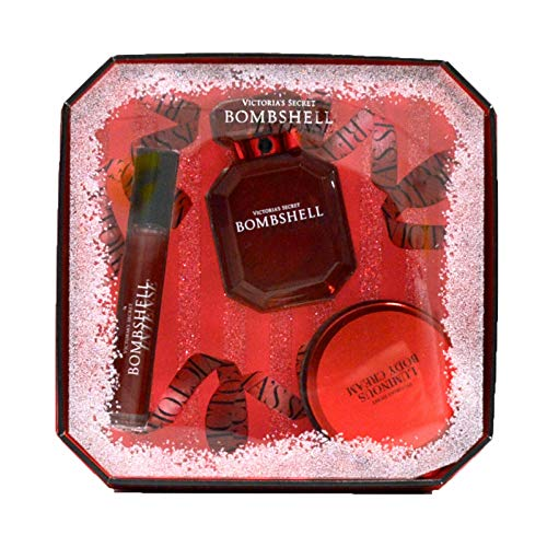 Victoria's Secret Gift Set Bombshell Intense 3 Piece Perfume & Body Cream