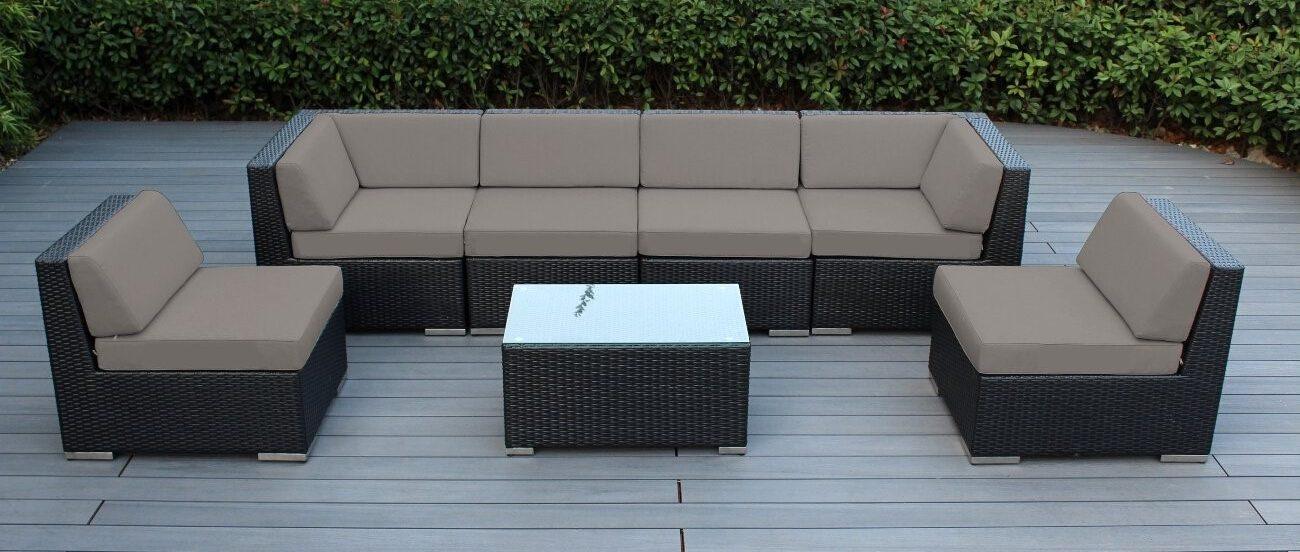 7 piece outdoor wicker patio furniture