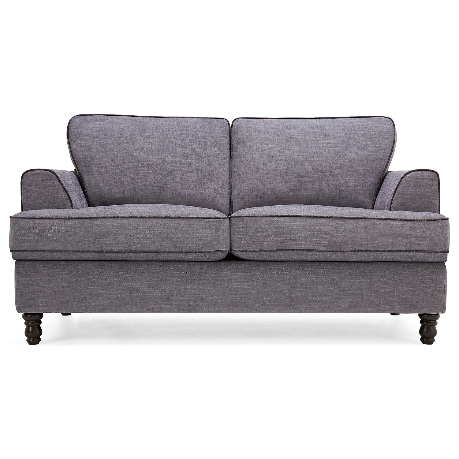 light sofa bed futon difference elena grey with dark piping cavendish