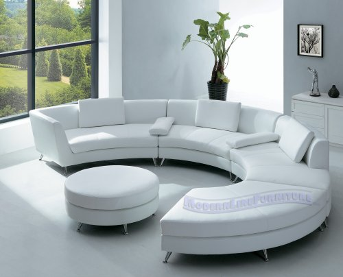 white leather sectional sofa with ottoman jensen lewis modern furniture and mini home