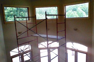 window film installed on hard-to-reach windows