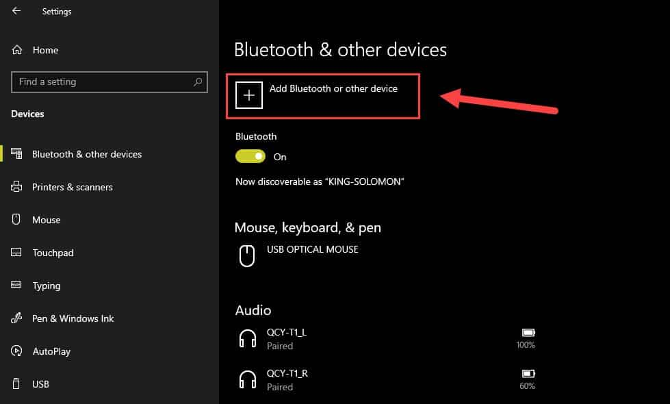Add device to windows