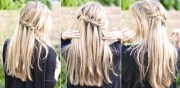 super easy waterfall braid