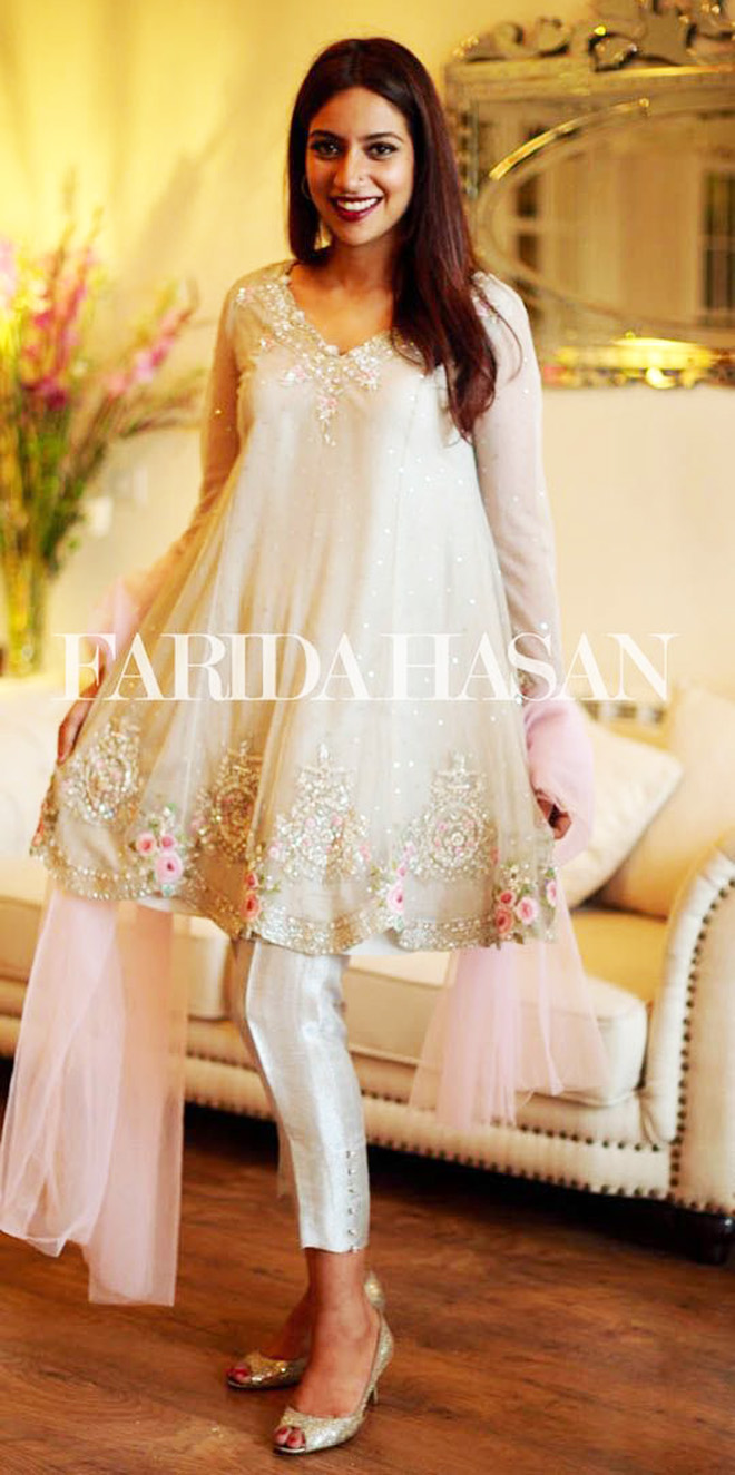 Latest Designs Pakistani Fashion Short Frocks With Capris ...