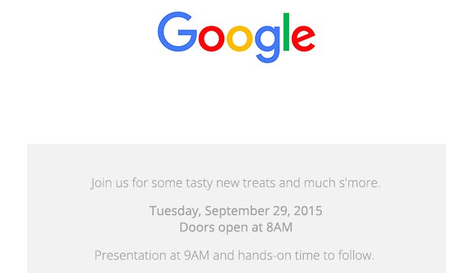 Google confirms Sep 29 Event, likely to launch Nexus 5X