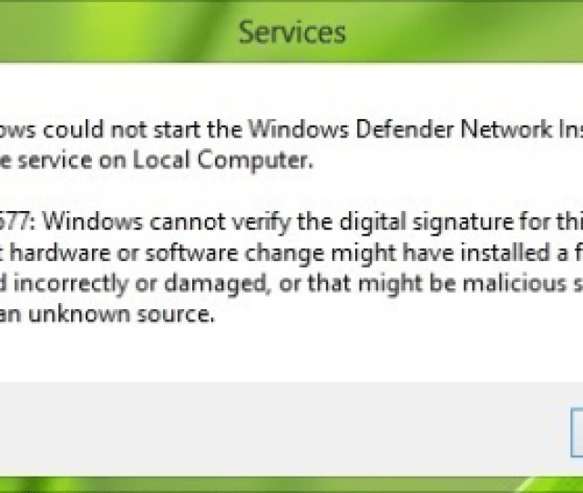 Fix Win Defender Error 577 In Windows 10