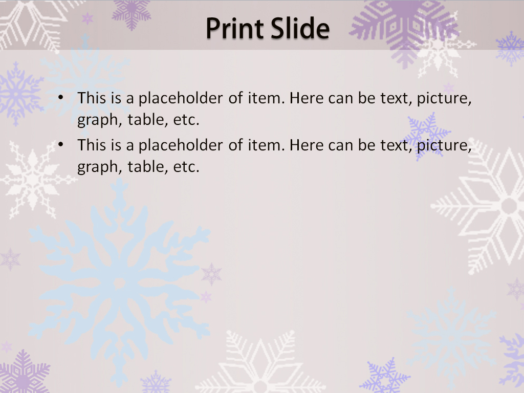 snowflake powerpoint background