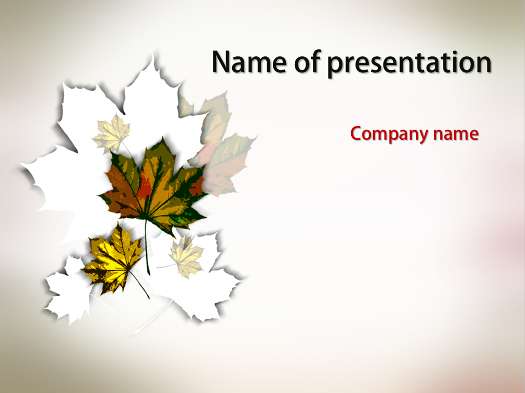 Fall Leaves Wallpaper Powerpoint Background Download Free Falling Leaves Powerpoint Template For Your