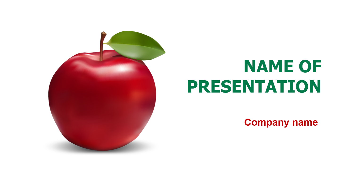 Download Free Delicious Apple Powerpoint Template For Your
