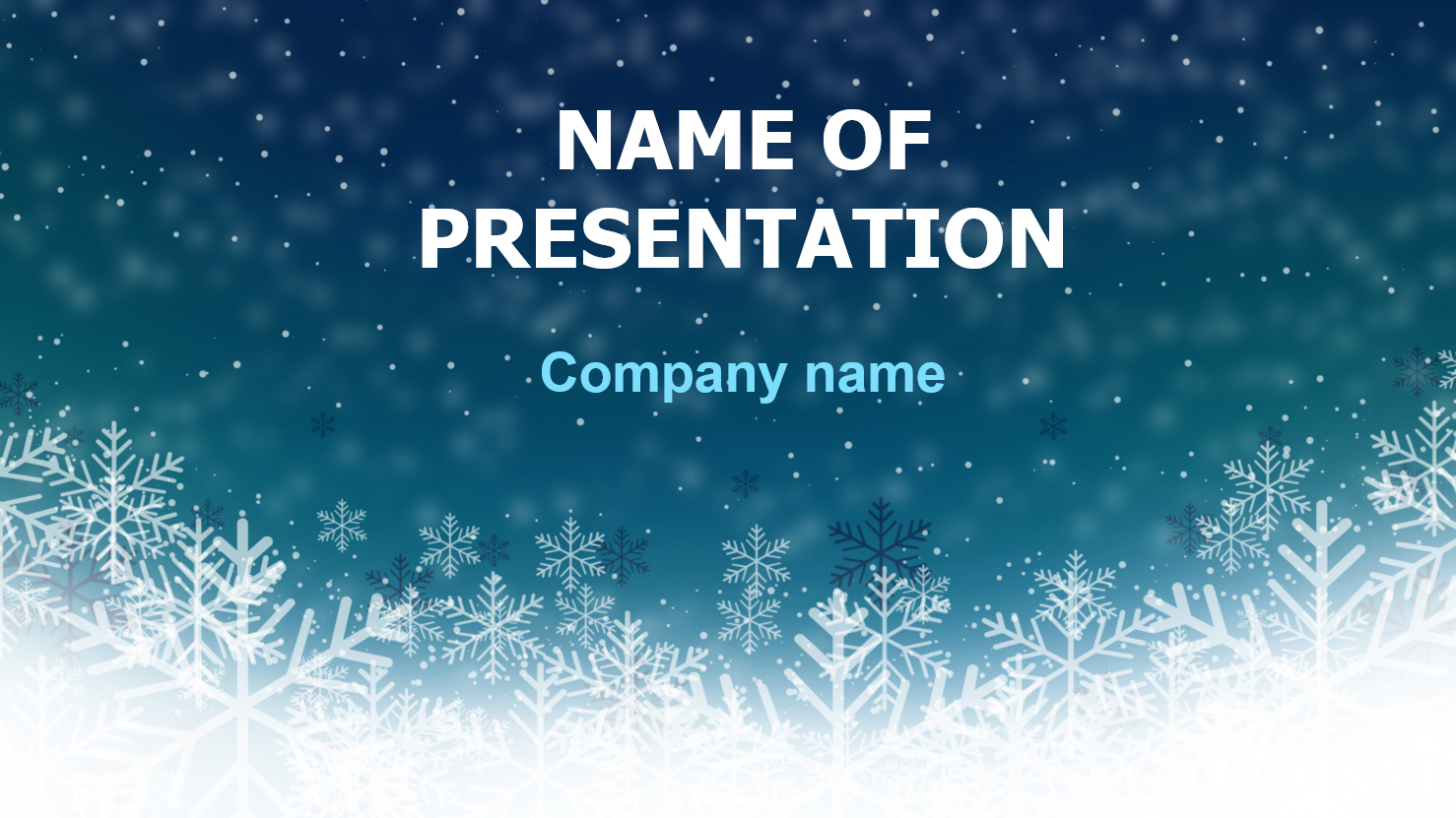 Download free Deep Snow PowerPoint template and theme for