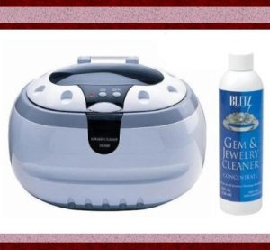 Sonic Wave Professional Ultrasonic Cleaner – Cleans Jewelry, Optics, Eyeglass, CD's, DVD's and Other Delicate Items , Blitz Jewelry and Gem Cleaner